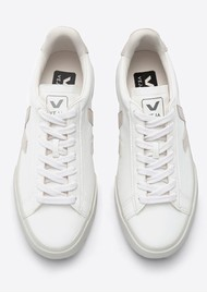 VEJA Campo Leather Trainers - White Natural