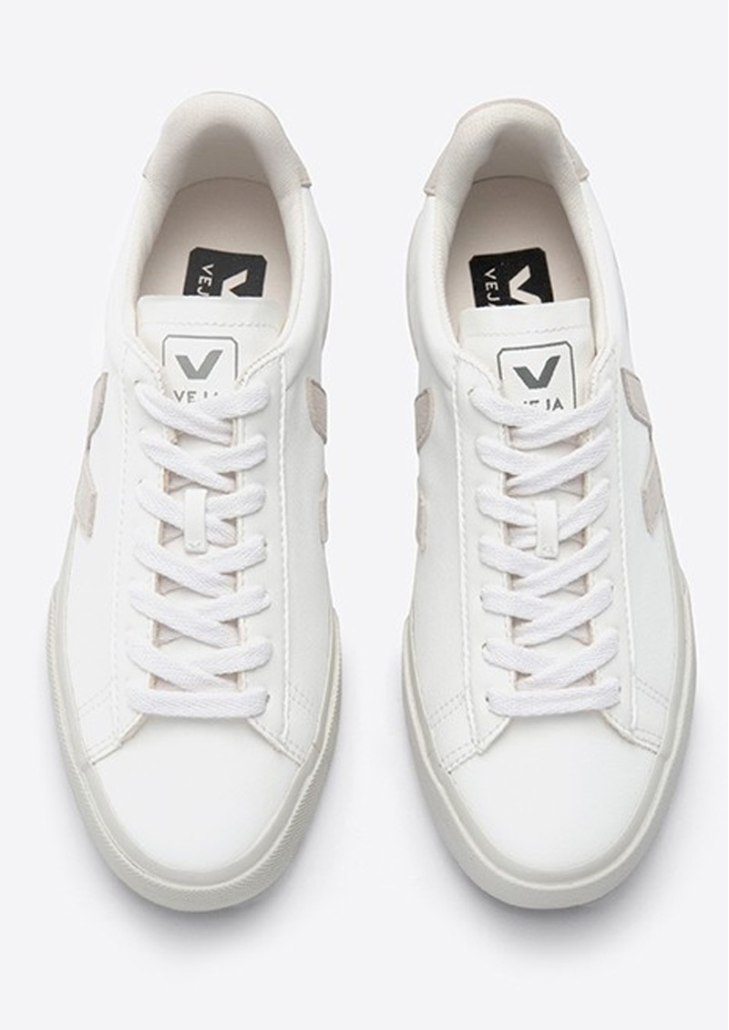 VEJA Campo Leather Trainers - White Natural main image