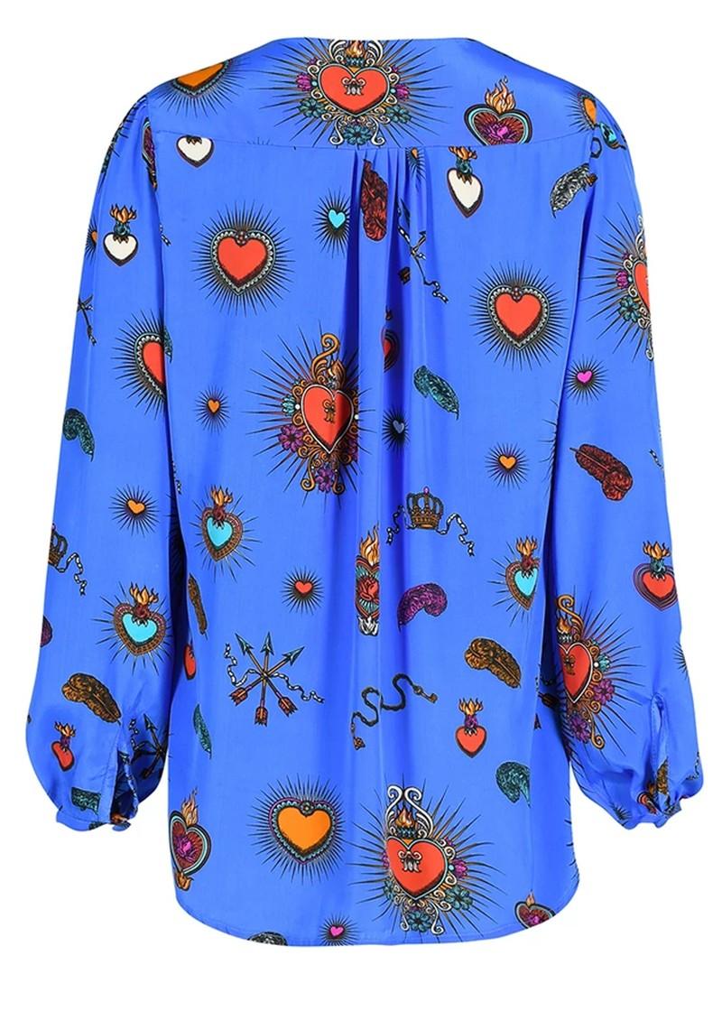 STARDUST Betty Heart Blouse - Blue main image