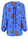 STARDUST Betty Heart Blouse - Blue
