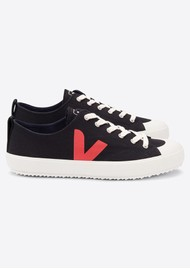 VEJA Nova Canvas Trainers - Black & Pekin