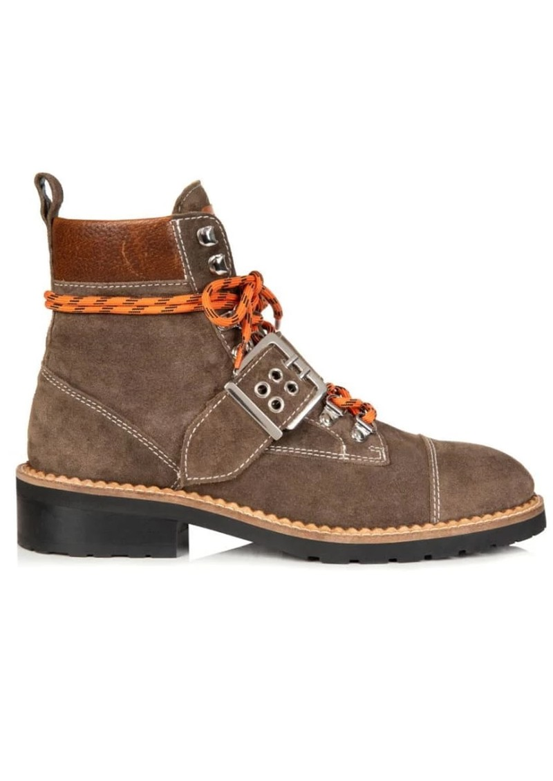 AIR & GRACE Freya Hiking Boot - Brown Suede main image