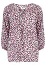 Mercy Delta Clevedon Silk Blouse - Jaguar Flamenco