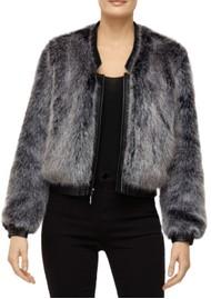 J Brand Ashbey Faux Fur Jacket - Silver Fox