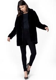 J Brand Dorene Faux Fur Coat - Black
