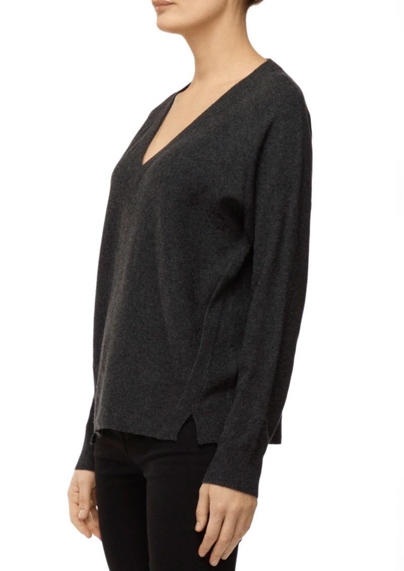 J Brand Gabbie V Neck Sweater - Anthracite Heather  main image