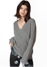 J Brand Jayla V-Neck Sweater - Sterling Grey