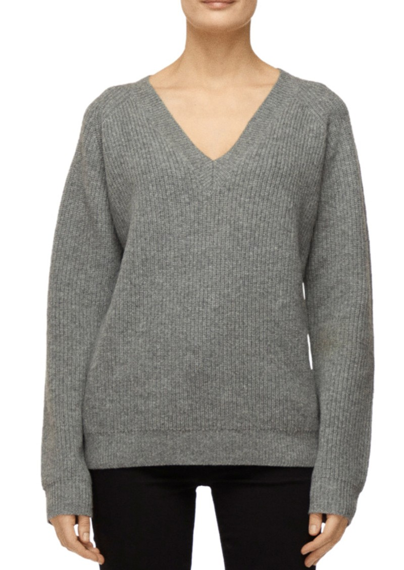 J Brand Jayla V-Neck Sweater - Sterling Grey  main image