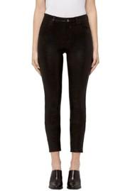 J Brand Alana High-Rise Cropped Super Skinny - Black Leather