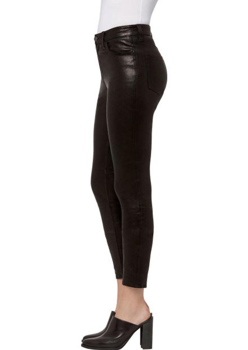 J Brand Alana High-Rise Cropped Super Skinny - Black Leather main image