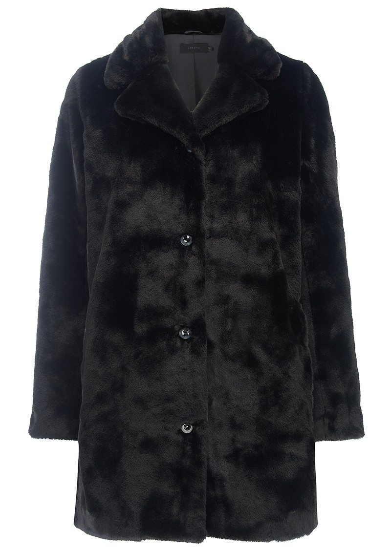 J Brand Dorene Faux Fur Coat - Black main image