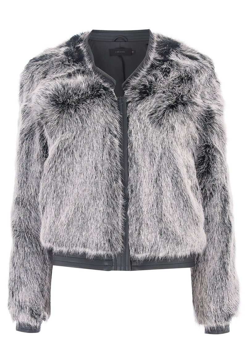 J Brand Ashbey Faux Fur Jacket - Silver Fox main image