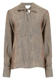 J Brand Mira Bow Tie Blouse - Leopard Jacquard