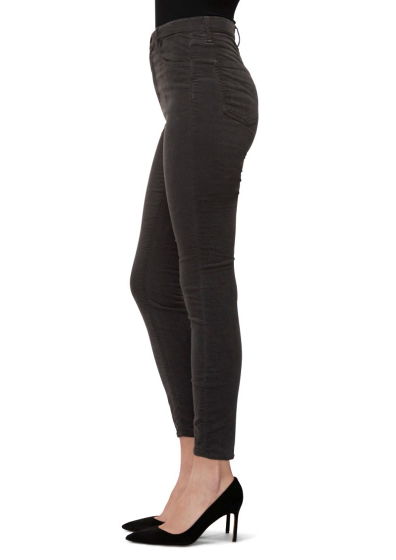 J Brand Leenah Super High Rise Ankle Skinny Velvet Jeans - Sleepwalker main image