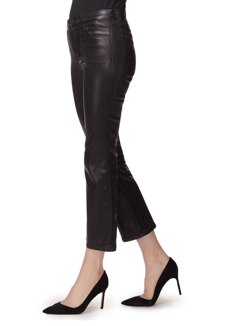 J Brand Selena Mid Rise Boot Cut Coated Jeans - Galactic Black main image
