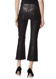 J Brand Selena Mid Rise Boot Cut Coated Jeans - Galactic Black