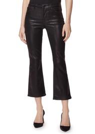 J Brand Selena Mid Rise Boot Cut Coated Jeans - Galactic Black