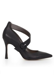 Sam Edelman Hinda Cross Strap Pump - Black