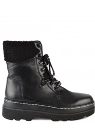 Ash Siberia Shearling Leather Boots - Black