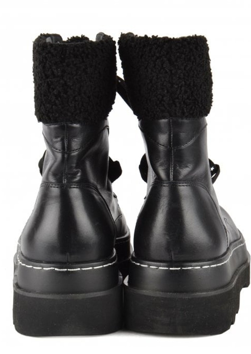 Ash Siberia Shearling Leather Boots in Black  main image
