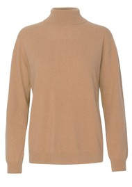 LEVETE ROOM Funda Polo Neck Jumper - Camel