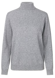 LEVETE ROOM Funda Polo Neck Jumper - Grey