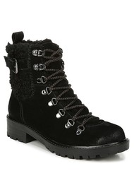 Sam Edelman Tenlee Suede Lace Up Hiking Boot - Black