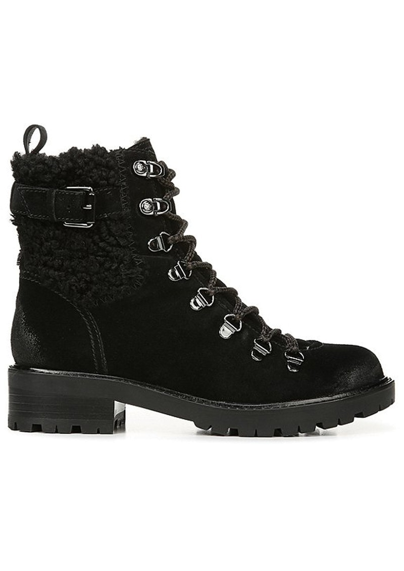 Sam Edelman Tenlee Suede Lace Up Hiking Boot - Black main image