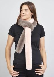 NOOKI Patchwork Pasha Faux Fur Scarf - Pink & Mink