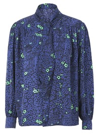 BAILEY & BUETOW Bex Blouse - Blue Leopard