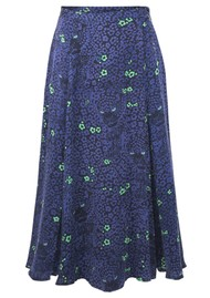 BAILEY & BUETOW Bex Skirt - Blue Leopard