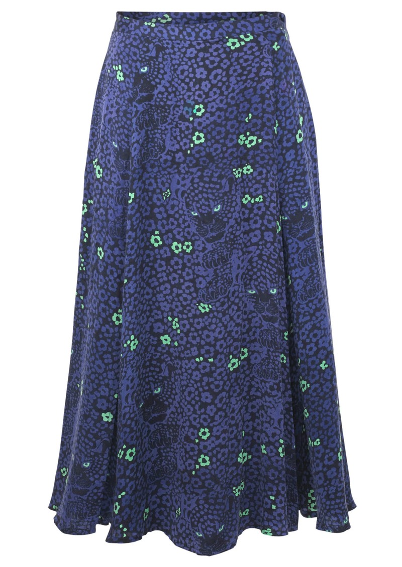 BAILEY & BUETOW Bex Skirt - Blue Leopard main image