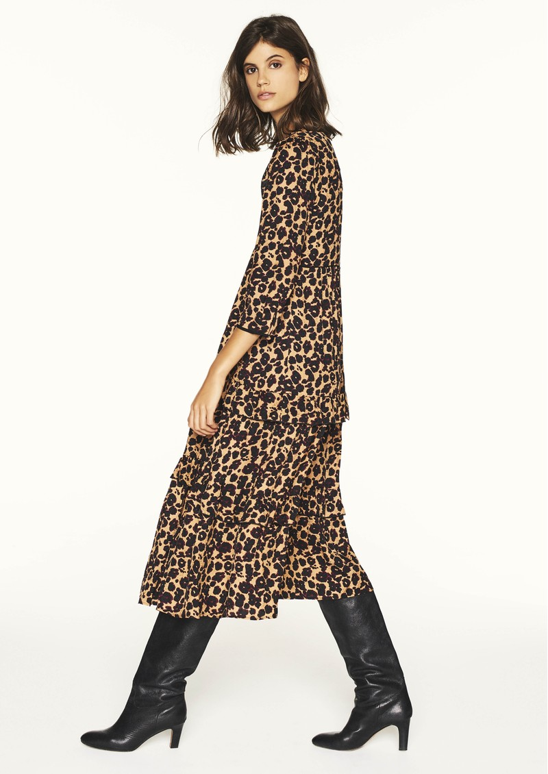 Ba&sh Tracey Printed Dress - Camel main image