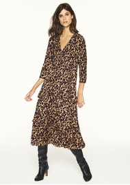Ba&sh Tracey Printed Dress - Camel