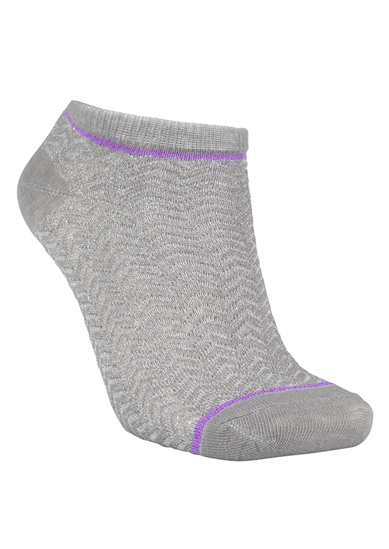 Becksondergaard Dollie Zig Zag Socks - Light Grey Melange main image