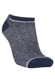 Becksondergaard Dollie Zig Zag Socks - Navy