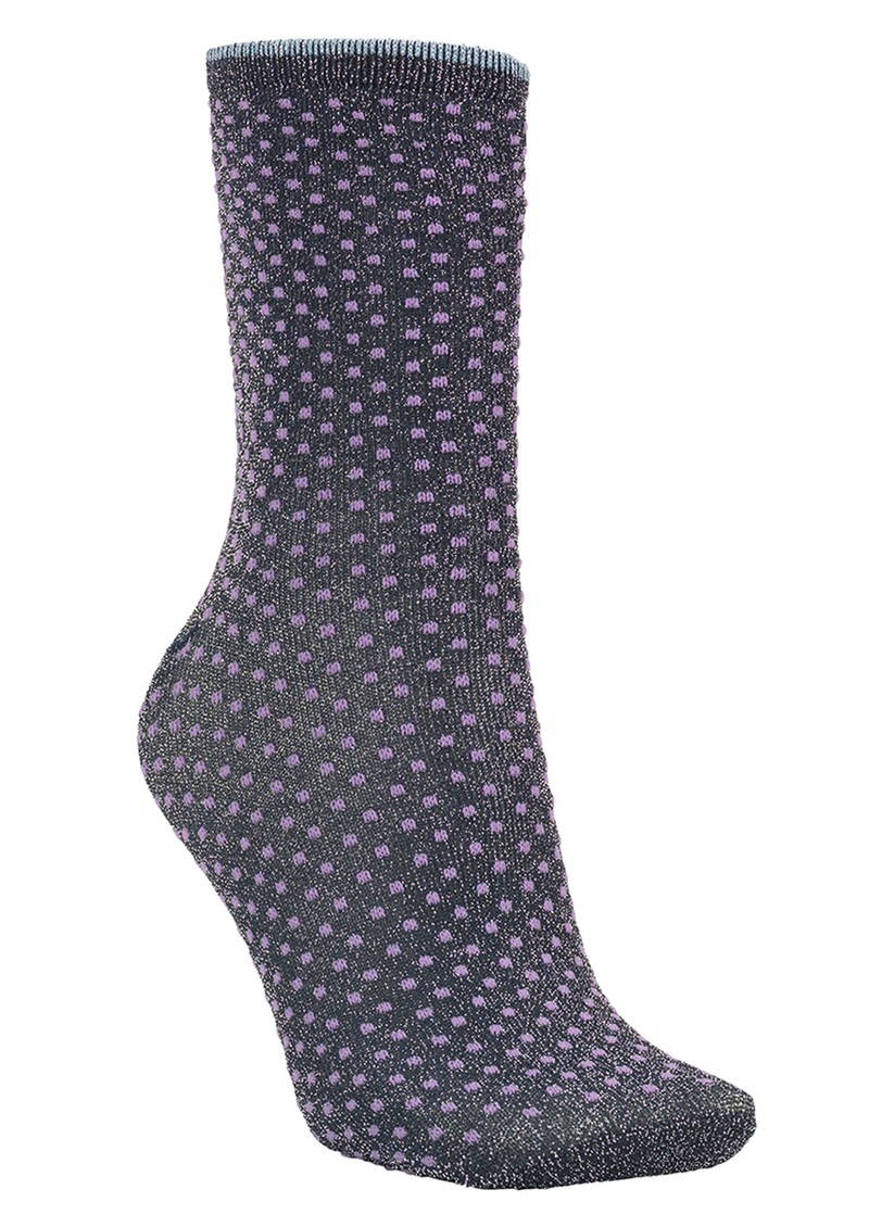 Becksondergaard Dina Small Dots Socks - Purple main image