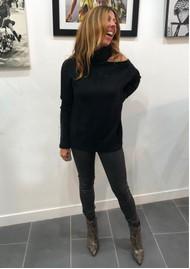 Paige Denim Raundi Turtleneck Jumper - Black