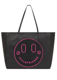 HILL & FRIENDS Slouchy Tote - Black & Pink