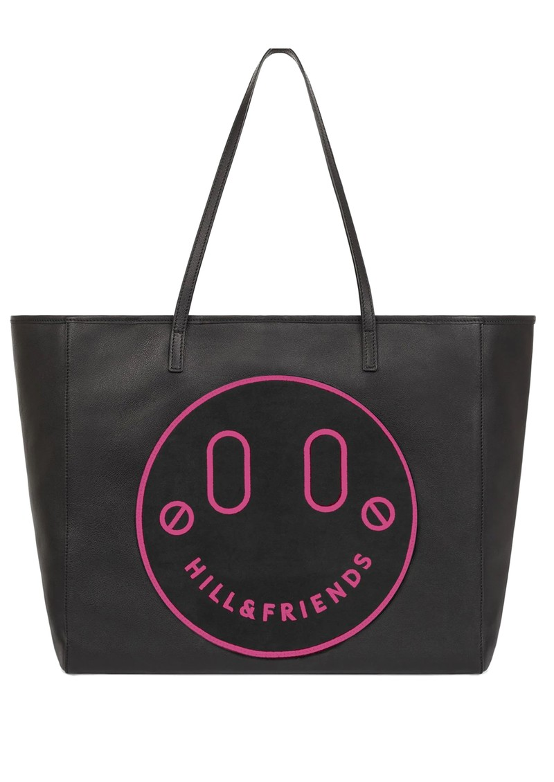 HILL & FRIENDS Slouchy Tote - Black & Pink main image