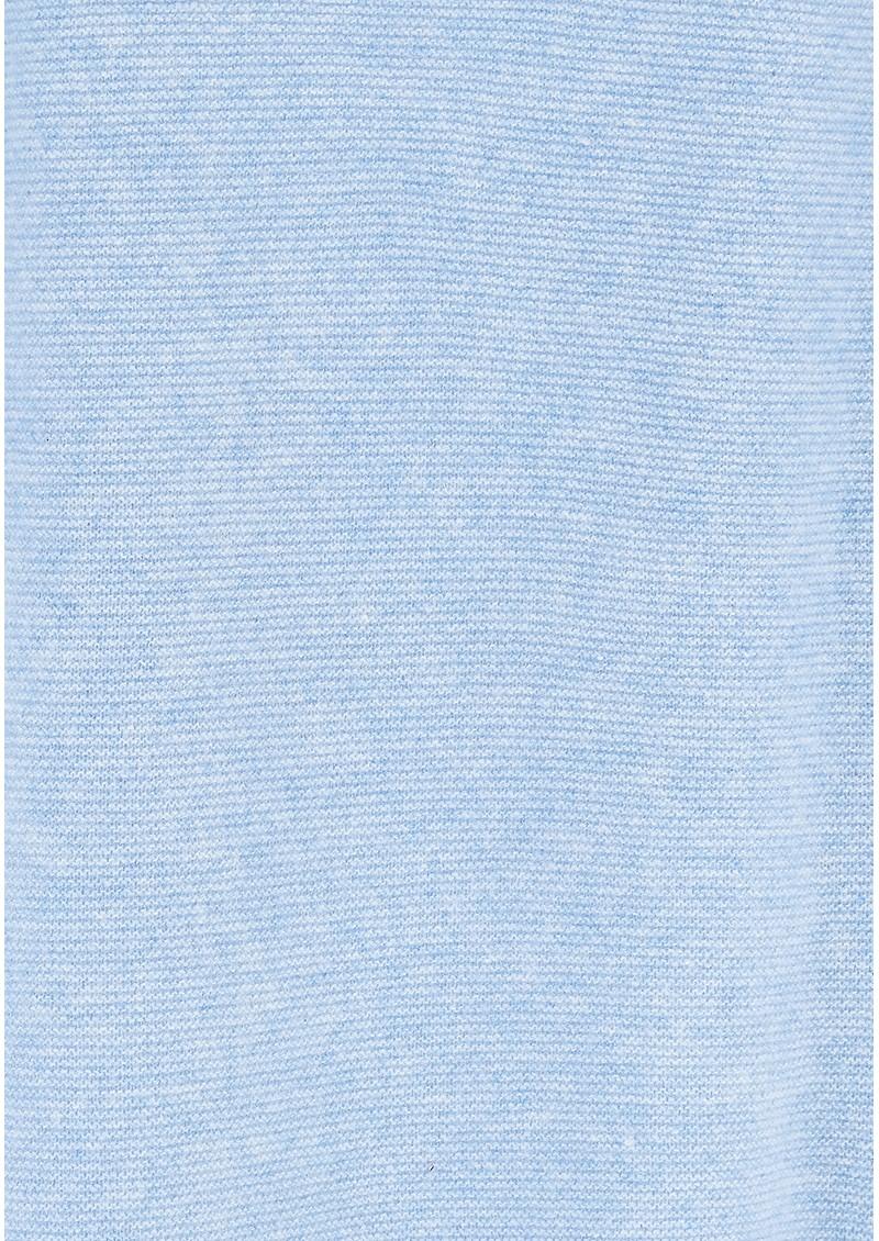 JUMPER 1234 Reverse Tie Cuff Cashmere Jumper - Baby Blue main image