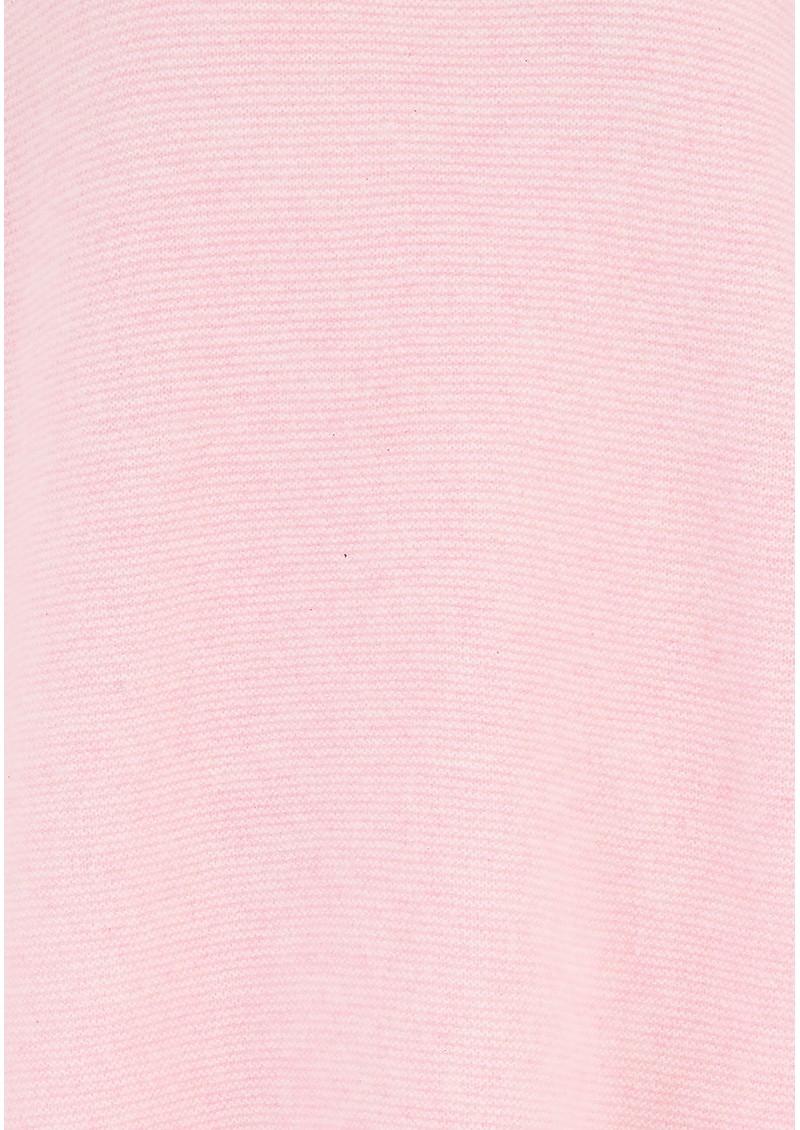 JUMPER 1234 Reverse Tie Cuff Cashmere Jumper - Pink Marl main image