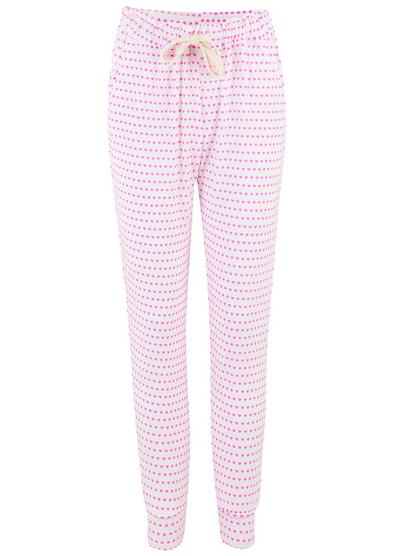 STRIPE & STARE Lounge Pants - Pink Hearts main image