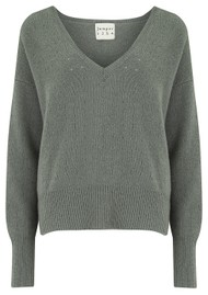 JUMPER 1234 Holy Vee Cashmere Sweater - Moss