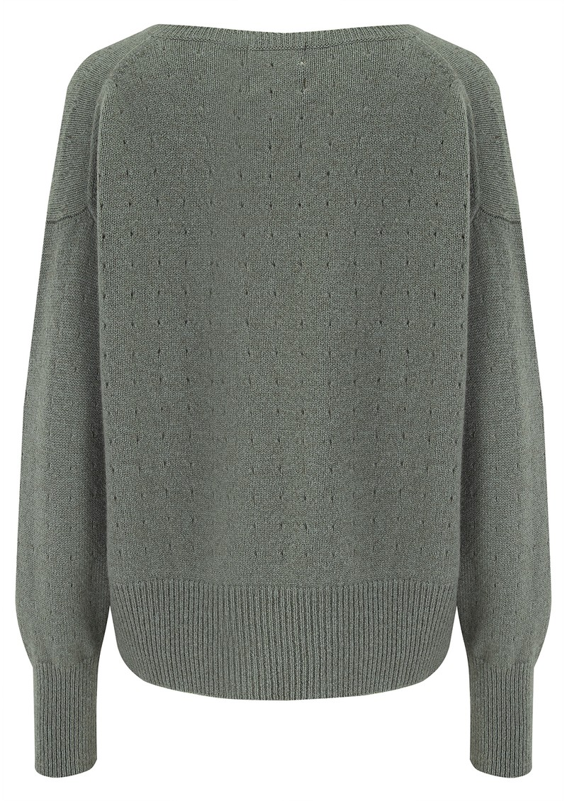 Holy Vee Cashmere Sweater - Moss main image