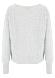 JUMPER 1234 Holy Vee Cashmere Sweater - Super Grey