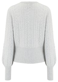 JUMPER 1234 Cropped Cable Knit Cashmere Jumper - Light Grey