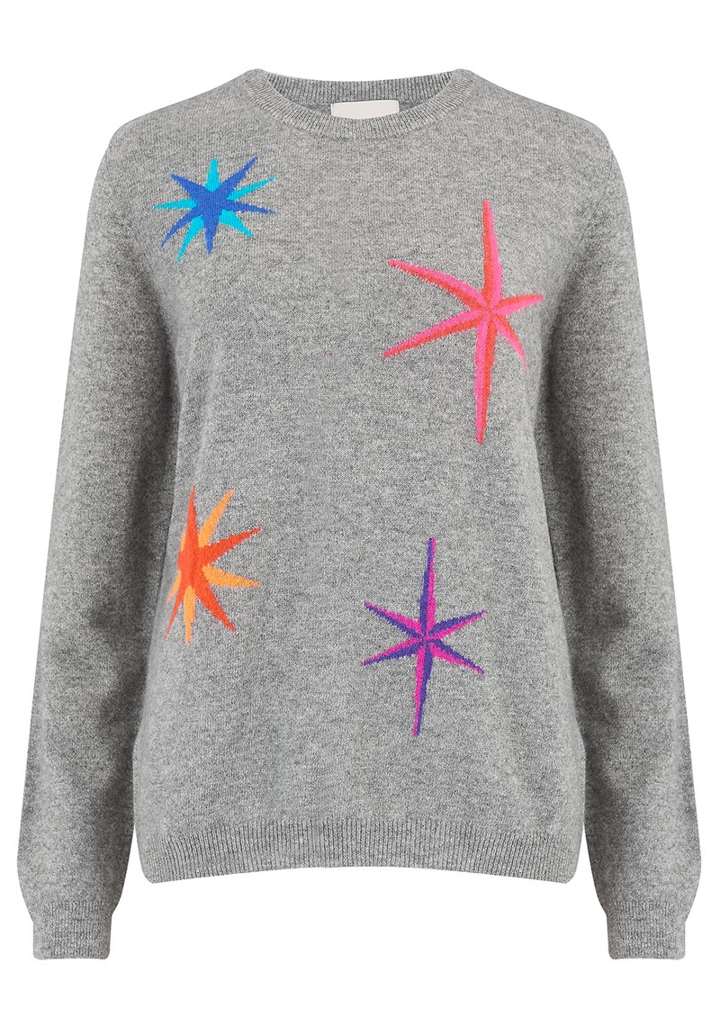 JUMPER 1234 Multi Star Cashmere Crew Jumper - Grey main image