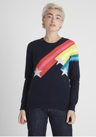 JUMPER 1234 Shooting Star Crew Cashmere Jumper - Navy