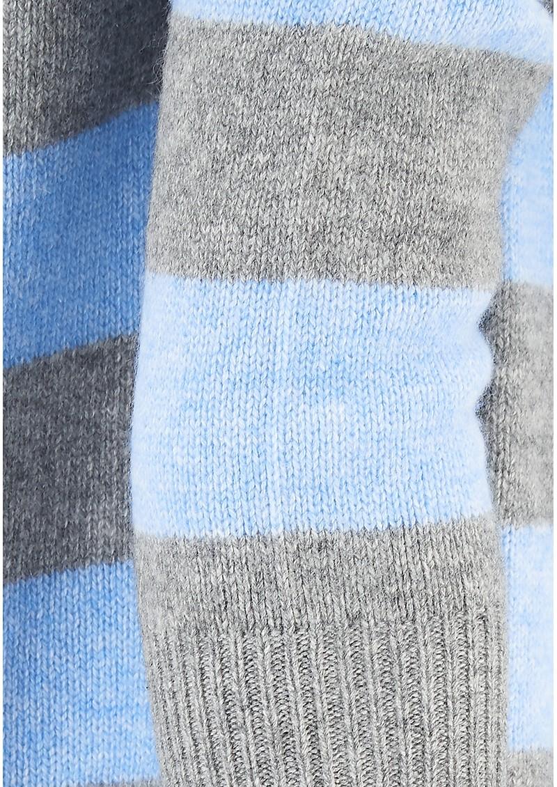 JUMPER 1234 Striped Boyfriend Cashmere Jumper - Grey, Blue & Pink main image